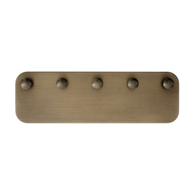 Furniture - Coat Racks & Pegs - SC47 Wall coat rack - / Steel - L 54 x H 17 cm by &tradition - Antique brass - Galvanized steel