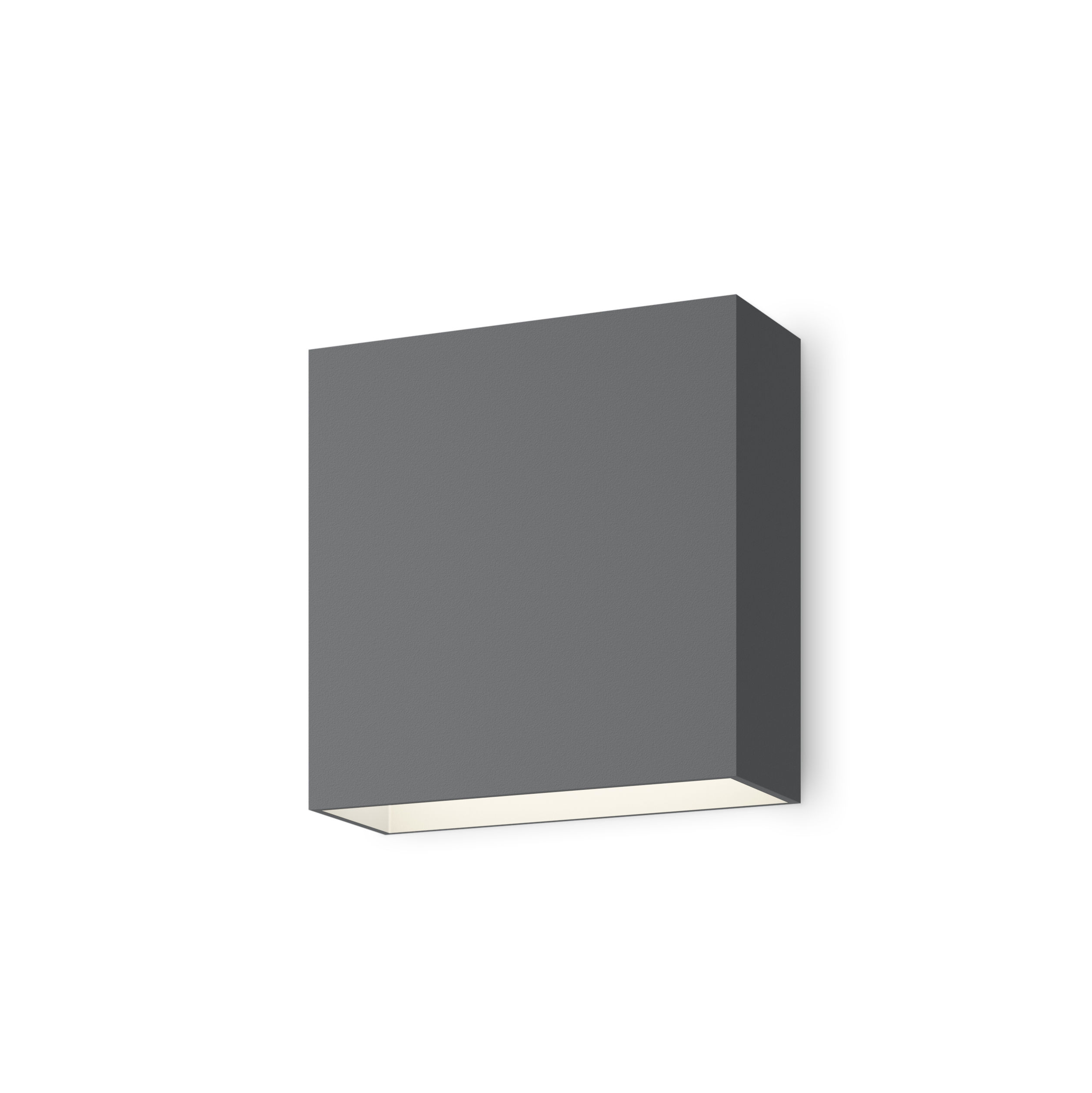 Lighting - Wall Lights - Structural LED Wall light - / 16 x 16 cm by Vibia - Grey - Lacquered aluminium