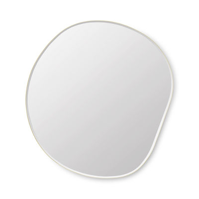 Decoration - Mirrors - Pond XL Wall mirror - / 87 x 94 cm by Ferm Living - Brass - Glass, Painted MDF, Zinc plated brass