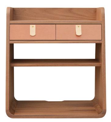 Möbel - Regale und Bücherregale - Suzon Wandablage / Kapselkollektion Hartô x Made In Design - Exklusiv-Angebot! - Hartô - Nussbaum / Kupfer - Holzfaserplatte, Kupfer