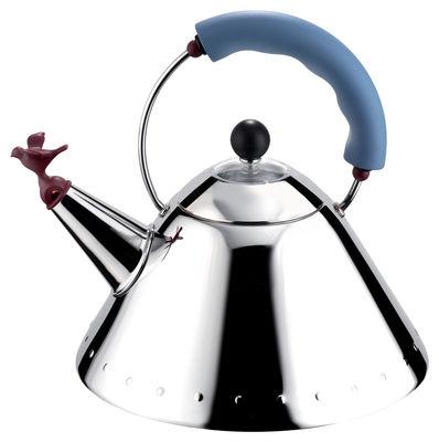 Tischkultur - Tee und Kaffee - Oisillon Wasserkessel - Alessi - Blau - Polyamid, rostfreier Stahl