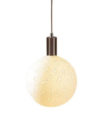Ampoule LED E27 Moon Light Large / 8W - Porcelaine - Ø 17,5 cm - Seletti blanc en céramique