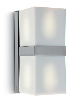 Applique Cubetto - White Glass double - Fabbian blanc en verre