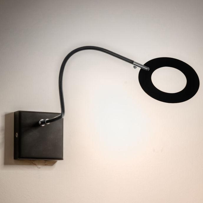 Luminaire - Appliques - Applique Mini Giulietta LED / Ø 9 cm - Catellani & Smith - Anneau Noir - Métal peint