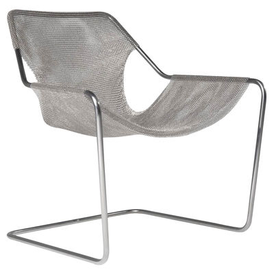 Furniture - Armchairs - Paulistano Armchair - Mesh Cover Edition - 100% Inox by Objekto - Mesh Cover - Recycled stainless steel