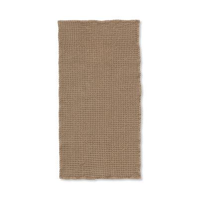 Eco Design - Innovazione - Asciugamano Organic - / 100 x 50 cm - Nido d'ape di Ferm Living - Cannella - Coton biologique GOTS