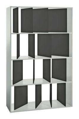 Bibliothèque Sundial L 100 x H 165 cm - Kartell blanc,gris fumé en matière plastique