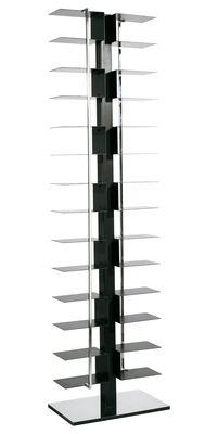Furniture - Bookcases & Bookshelves - Ptolomeo Bookcase - 2 sides by Opinion Ciatti - Black - Lacquered steel