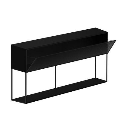 Mobilier - Commodes, buffets & armoires - Buffet Tristano / L 150 x H 82 cm - Résille d'acier - Zeus - Noir - Acier