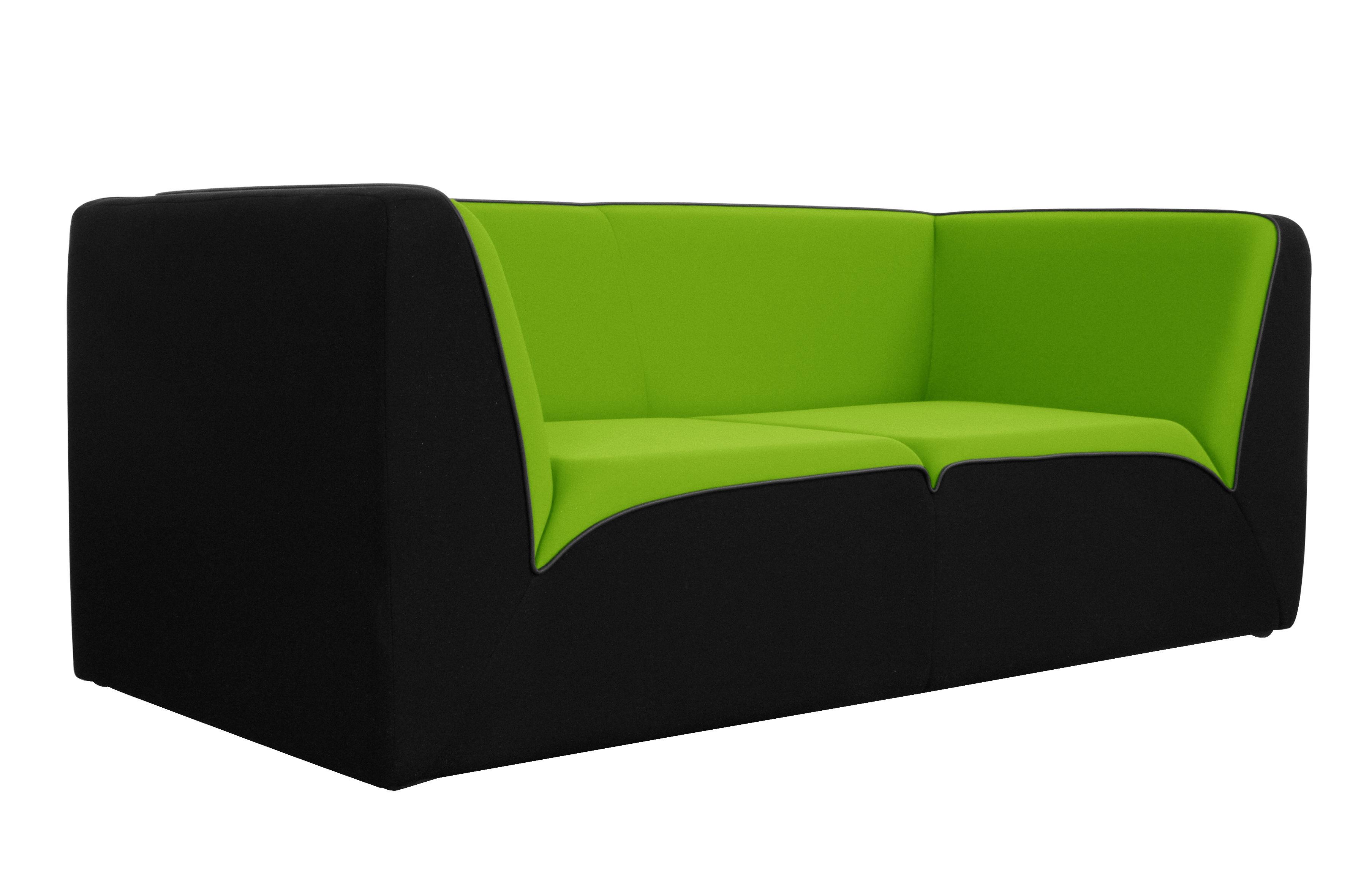 Canap droit e motion by ora ito 3 places l 189 cm noir vert anis passepoil noir mat - Canape vert anis ...