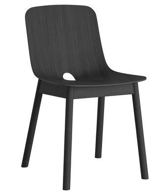Chaise Mono Chêne Woud noir en bois