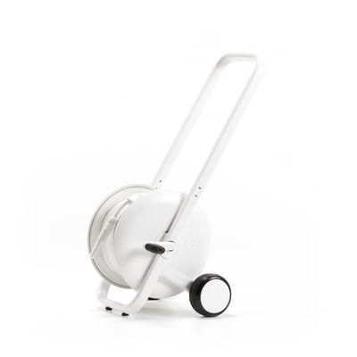 Chariot Tasman / Dévidoir - Equipé avc 50 mètres de tuyau d'arrosage + pistolet - Zee blanc en métal