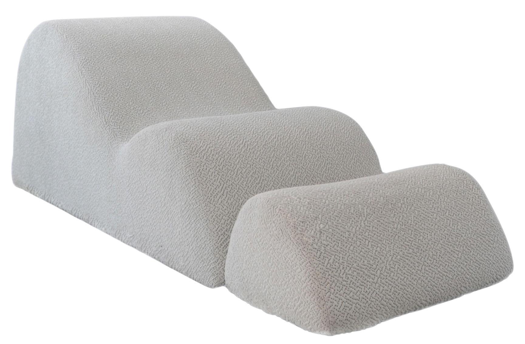 Mobilier - Fauteuils - Chauffeuse Dune / Avec repose-pieds - Smarin - Blanc cassé - Acrylique, Laine
