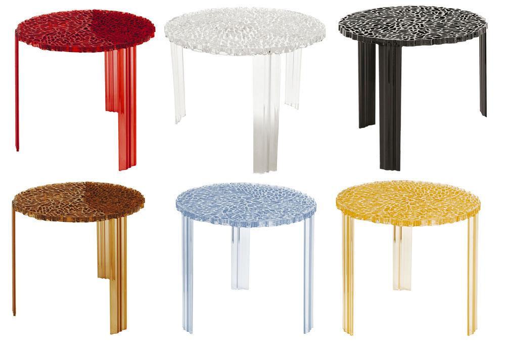 Couchtisch T-Table Alto von Kartell - Kristall - h 44 x Ø 50 | Made ...