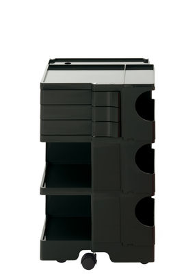 Desserte Boby / H 73 cm - 3 tiroirs - B-LINE noir en matière plastique