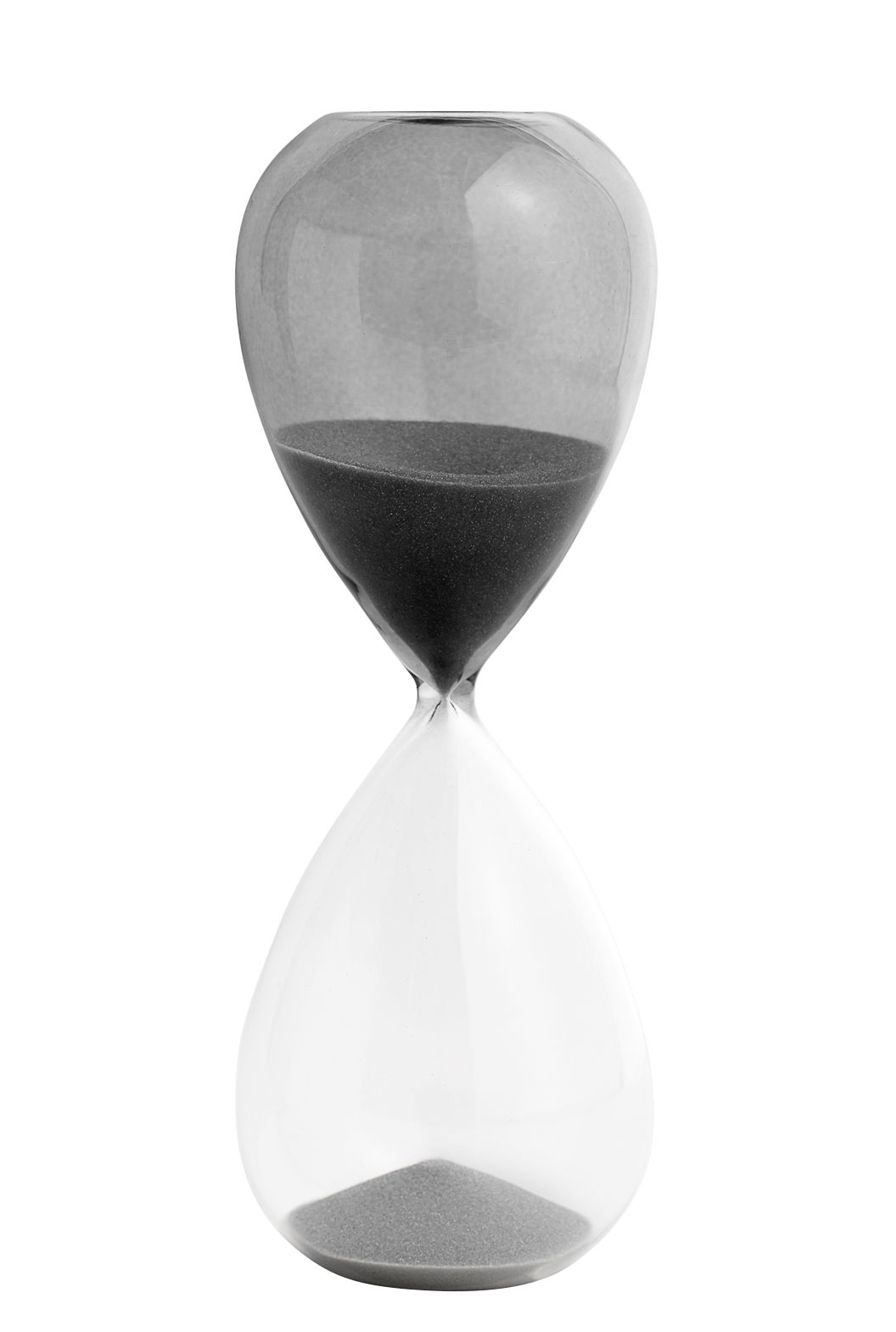 Kitchenware - Kitchen Equipment - Time Large Egg timer - / 30 minutes - H 19.5 cm by Hay - Grey / Transparent - Glass, Sand