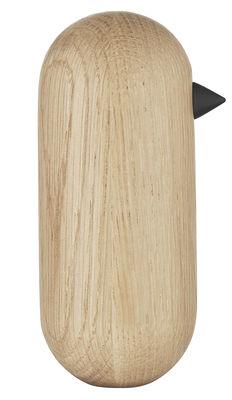 Decoration - Home Accessories - Little Bird Figurine - H 13,5 x Ø 6 cm by Normann Copenhagen - H 13,5 cm / Oak - Turned solid oak