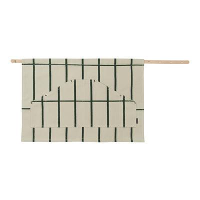 Outdoor - Vasi e Piante - Grembiule da giardinaggio Tiiliskivi - / Cotone & pelle di Marimekko - Beige & verde - Cotone spesso, Pelle