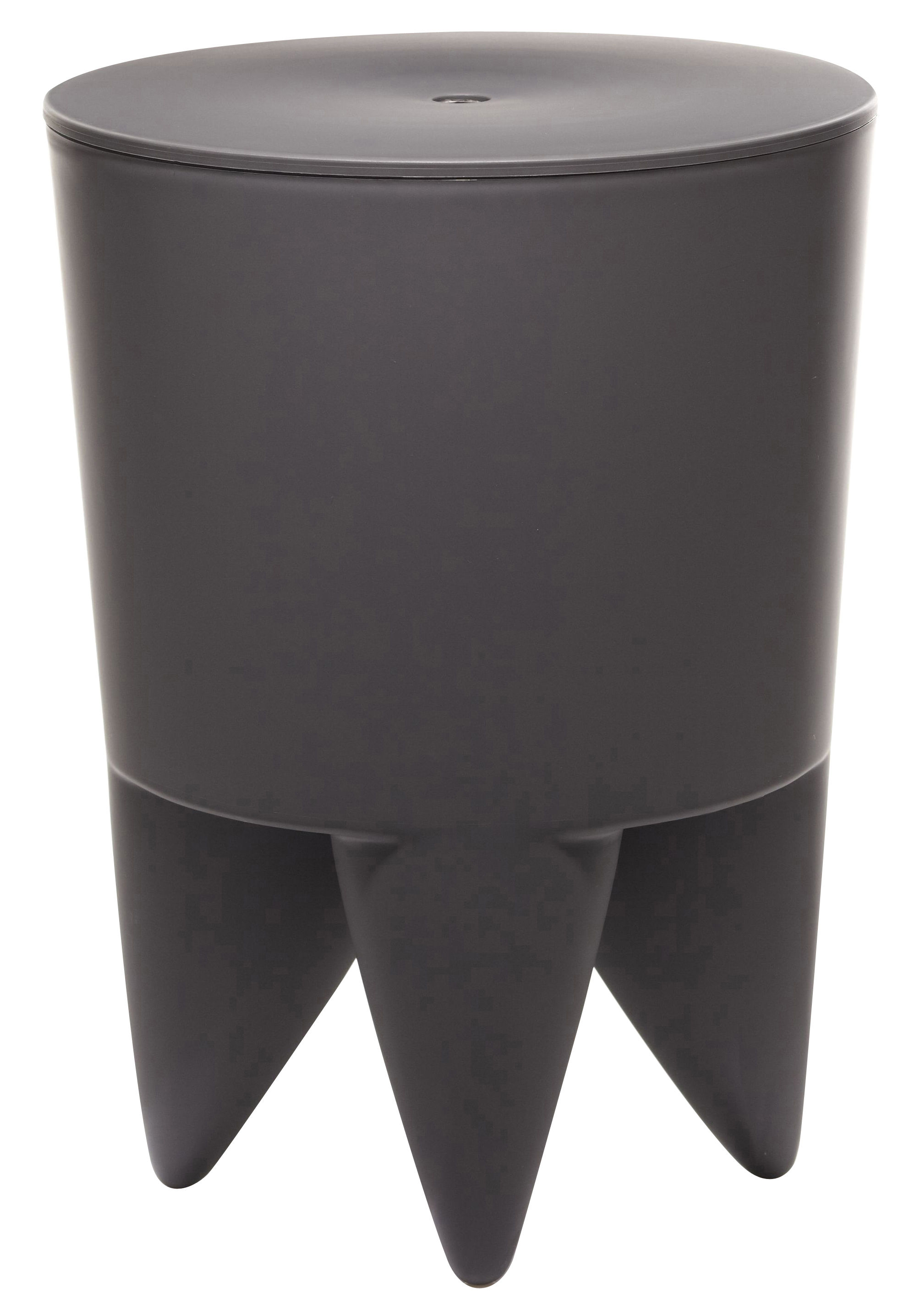 Möbel - Möbel für Teens - New Bubu 1er Hocker / Truhe - aus Kunststoff - XO - Graphitschwarz - Polypropylen