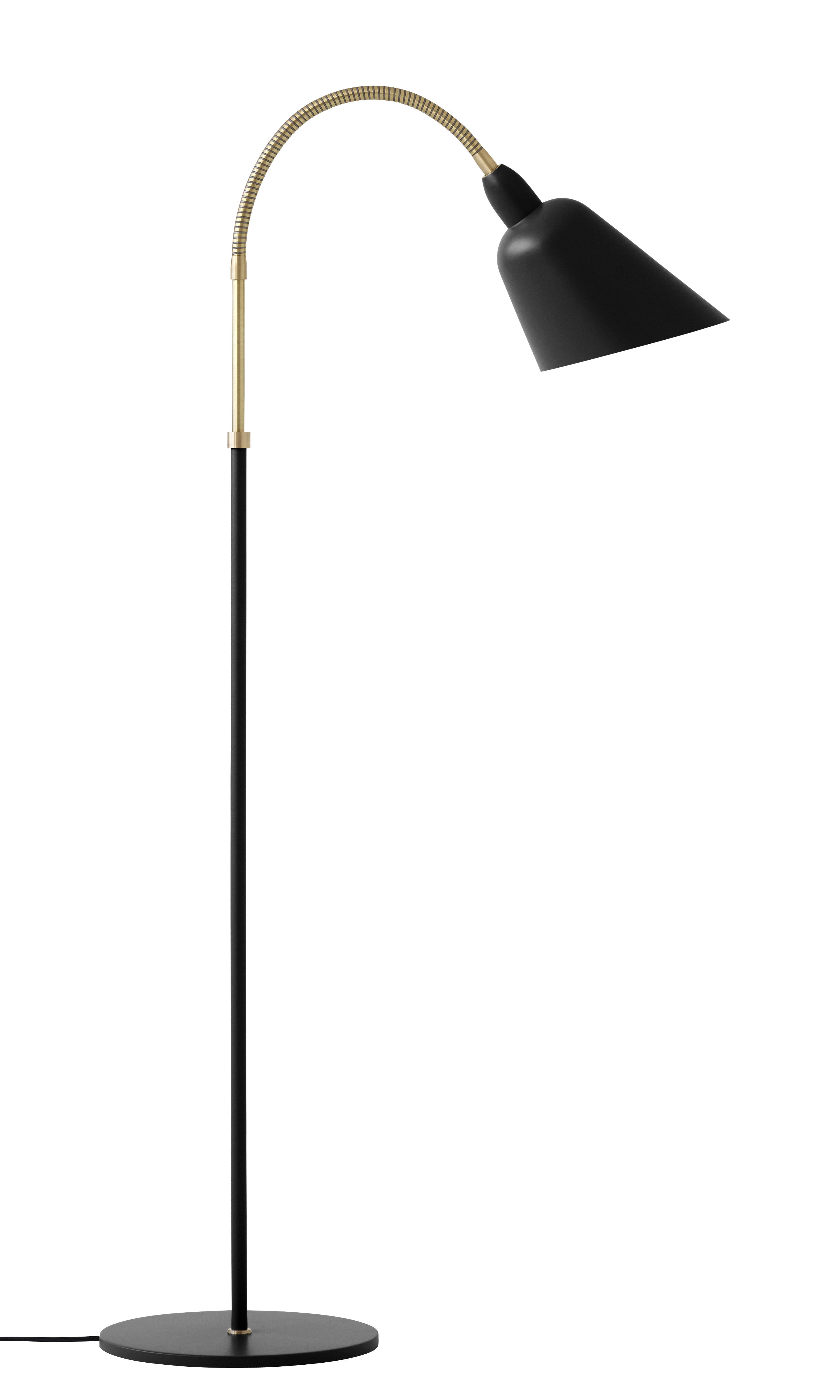 Luminaire - Lampadaires - Lampadaire Bellevue / by Arne Jacobsen - Réédition 1929 - &tradition - Noir & Laiton - Aluminium laqué, Laiton