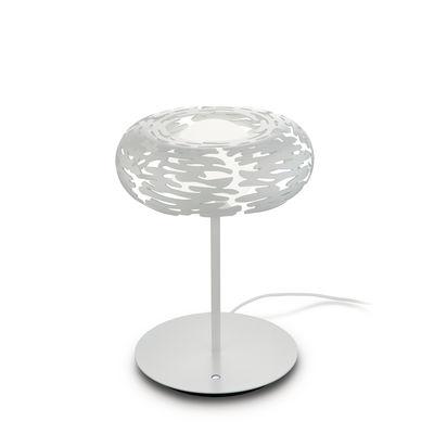 Luminaire - Lampes de table - Lampe de table Bark LED / Acier - Alessi - Blanc - Acier époxy