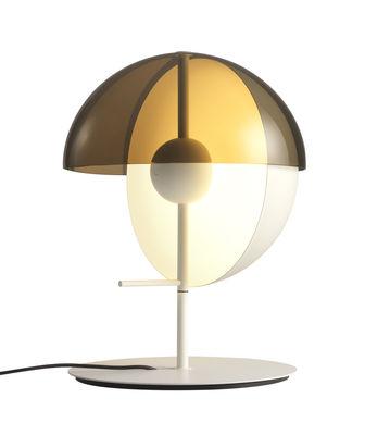 Lampe de table Theia / LED - H 43,5 cm - Marset blanc en métal/matière plastique