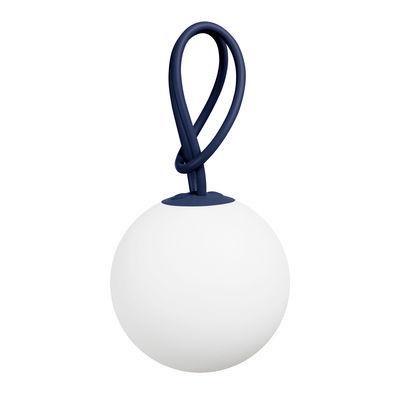 Luminaire - Lampes de table - Lampe sans fil Bolleke LED - Intérieur/extérieur - Fatboy - Bleu Océan foncé - Polyéthylène, Silicone