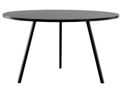 Table ronde Loop / Ø 120 cm - Hay noir en métal