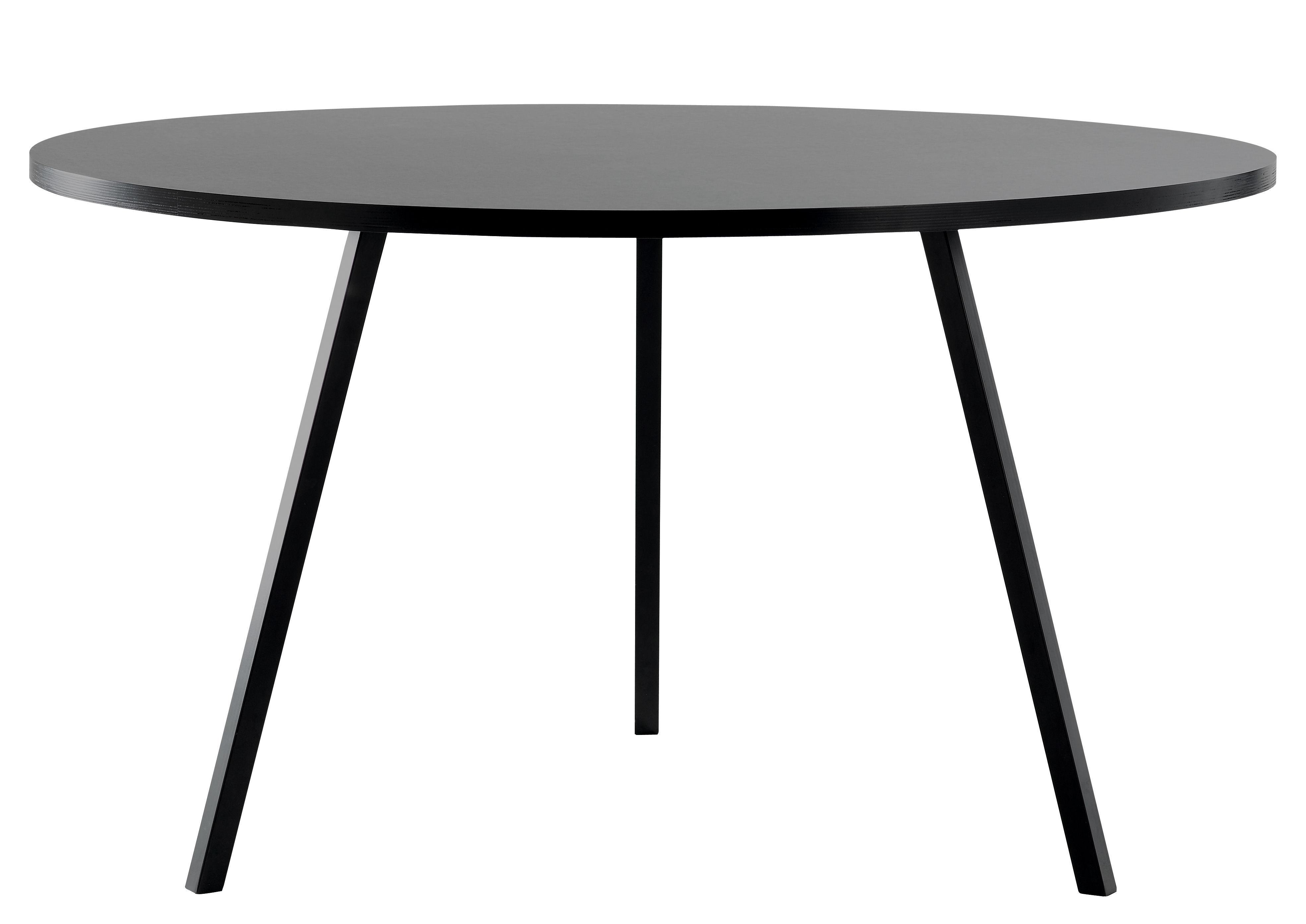 Tendances - Espace Repas - Table ronde Loop / Ø 120 cm - Hay - Noir - Acier laqué