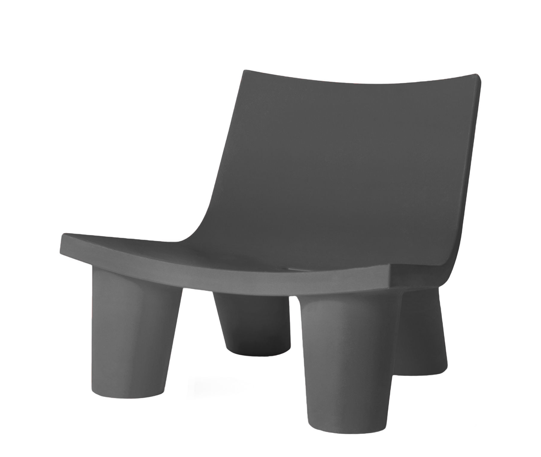 Furniture - Armchairs - Low Lita Low armchair by Slide - Grey - roto-moulded polyhene