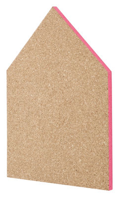 Decoration - Office - Pin board Memo board - Large H 55 cm by Ferm Living - Cork - Pink edge - Cork