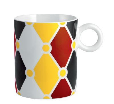 Mug Circus / Porcelaine anglaise - Alessi blanc,jaune,rouge,noir en céramique