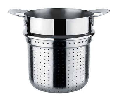 Passoire pour marmite à spaghetti Dressed - Alessi métal brillant en métal
