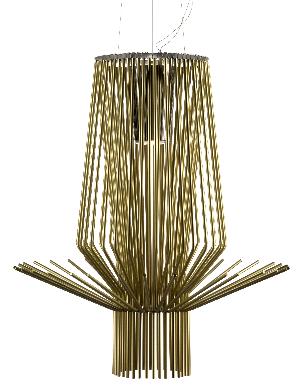 Lighting - Pendant Lighting - Allegro Assai Pendant by Foscarini - Gold - Aluminium