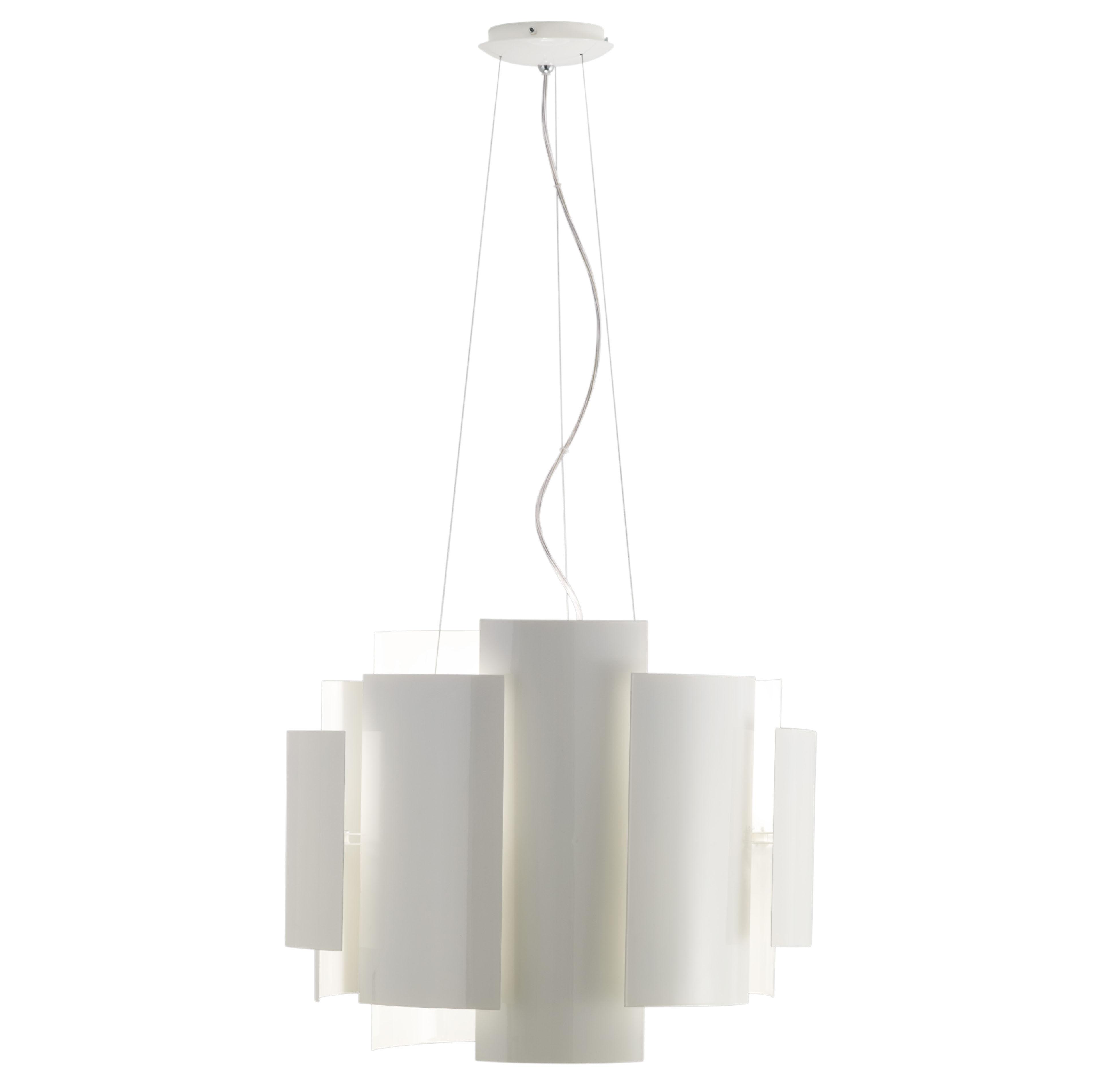 Leuchten - Skyline Pendelleuchte Ø 50 cm - Lumen Center Italia - Weiß - lackiertes Metall