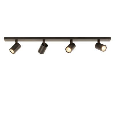 Illuminazione - Plafoniere - Plafoniera Ascoli Four Bar - / 4 spot orientabili - L 90 cm di Astro Lighting - Bronzo - Alluminio