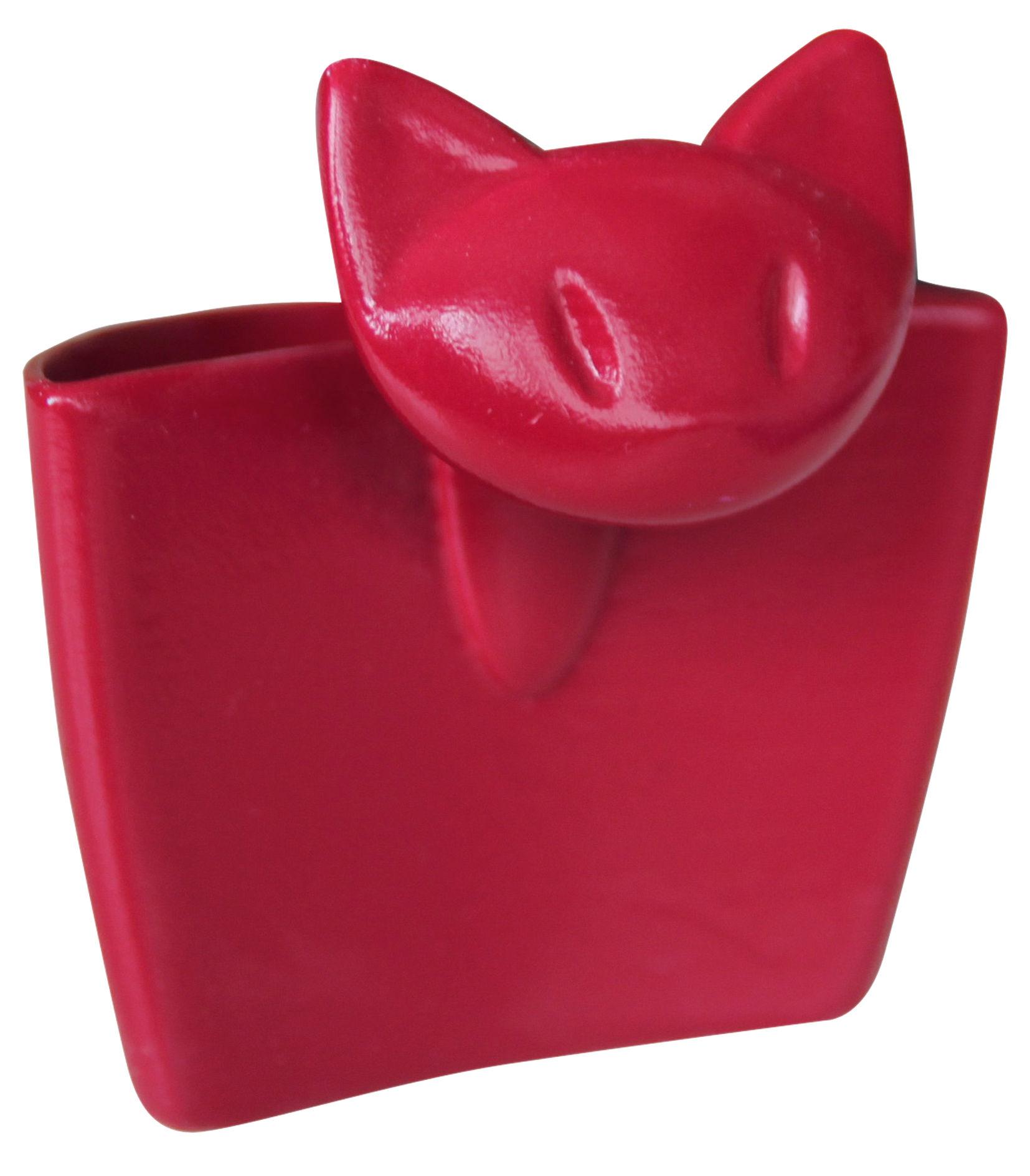 Arts de la table - Thé et café - Porte-sachet de thé Mimmi / Mini pochette à suspendre - Koziol - Rouge framboise - Plastique SAN