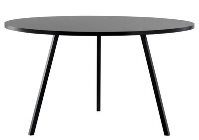 Furniture - Dining Tables - Loop Round table - Ø 120 cm by Hay - Black - Lacquered steel