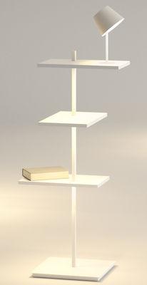 Arredamento - Scaffali e librerie - Scaffale luminoso Suite - / H 112 cm / Lampada & porta USB di Vibia - Bianco - metallo laccato, policarbonato