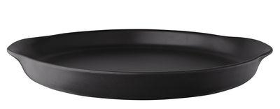 Tischkultur - Platten - Nordic Kitchen Servierplatte / Ø 30 cm - Steinzeug - Eva Solo - Schwarz matt - Sandstein