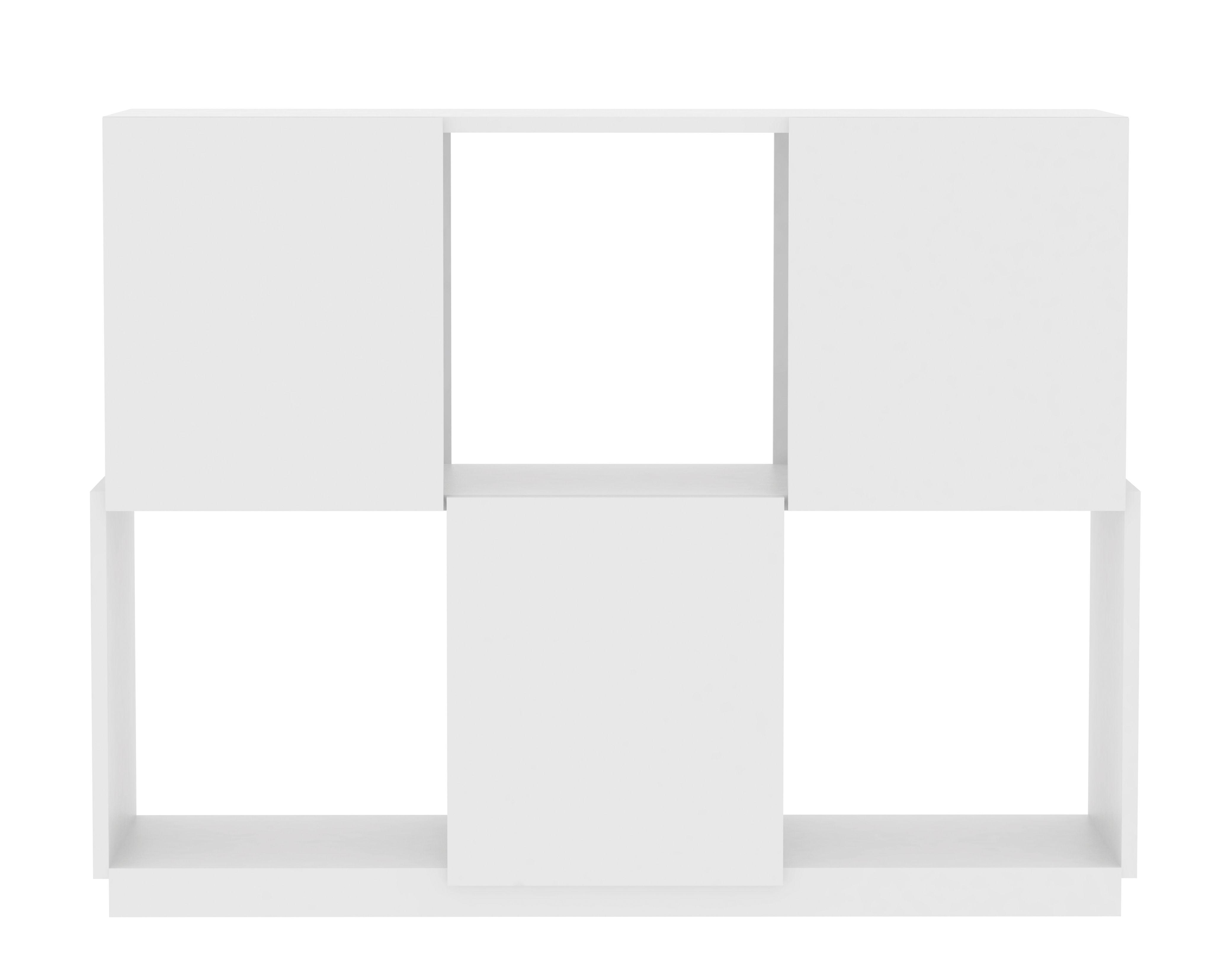 Furniture - Bookcases & Bookshelves - Cubic Shelf - L 105 x H 81 cm by POP UP HOME - White - Honeycomb panels, Melamine