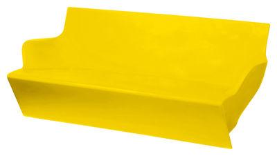 Outdoor - Garden sofas - Kami Yon Sofa by Slide - Yellow - recyclable polyethylene