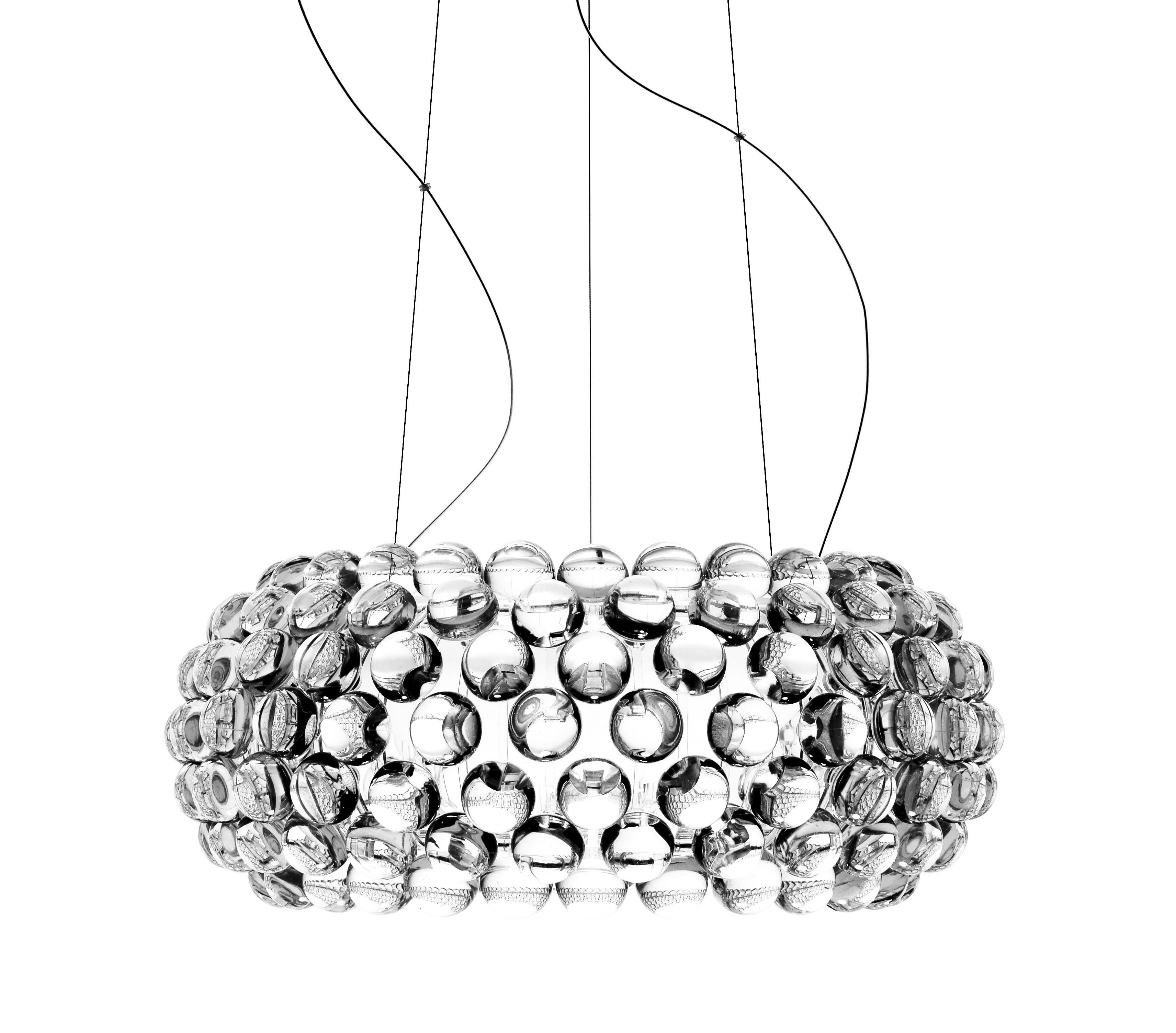 Illuminazione - Lampadari - Sospensione Caboche Media LED - / Ø 50 cm di Foscarini - Trasparente - Metallo, PMMA, vetro soffiato