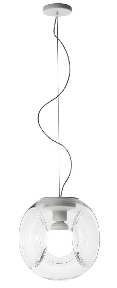 Illuminazione - Lampadari - Sospensione Eyes / Vetro - Ø 35 cm - Fabbian - Trasparente - vetro soffiato