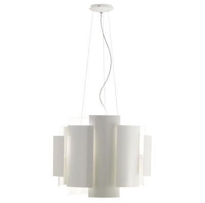 Illuminazione - Sospensione Skyline - Ø 50 cm di Lumen Center Italia - Bianco - metallo laccato