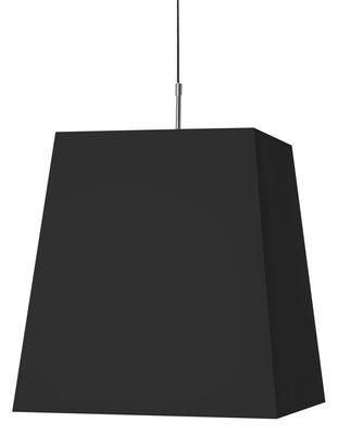 Illuminazione - Lampadari - Sospensione Square Light di Moooi - Noir - Cotone