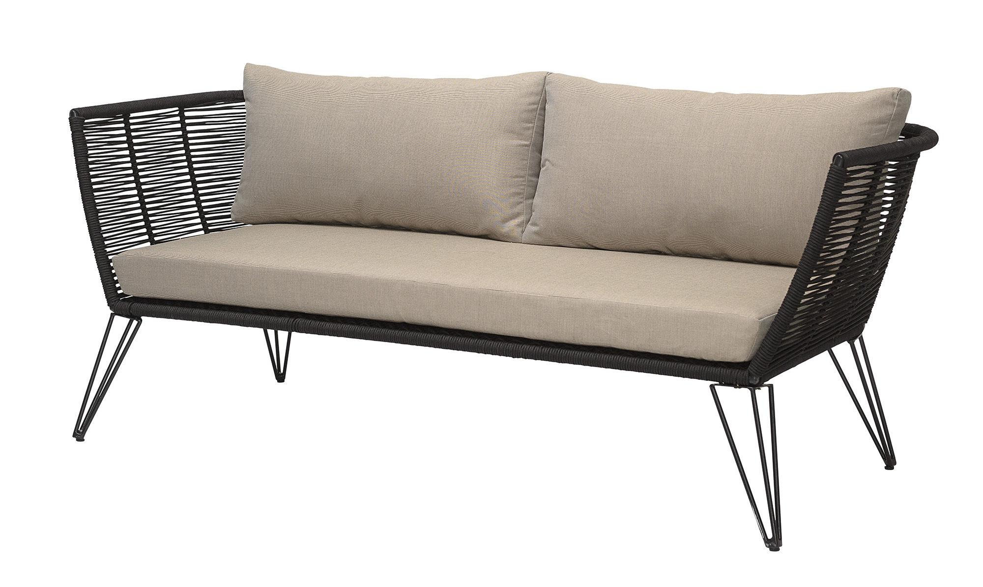 Straight sofa Metal by Bloomingville - Black/Beige | Made ...