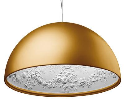 Luminaire - Suspensions - Suspension Skygarden 1 / Ø 60 cm - Halogène - Flos - Or mat - Aluminium, Plâtre