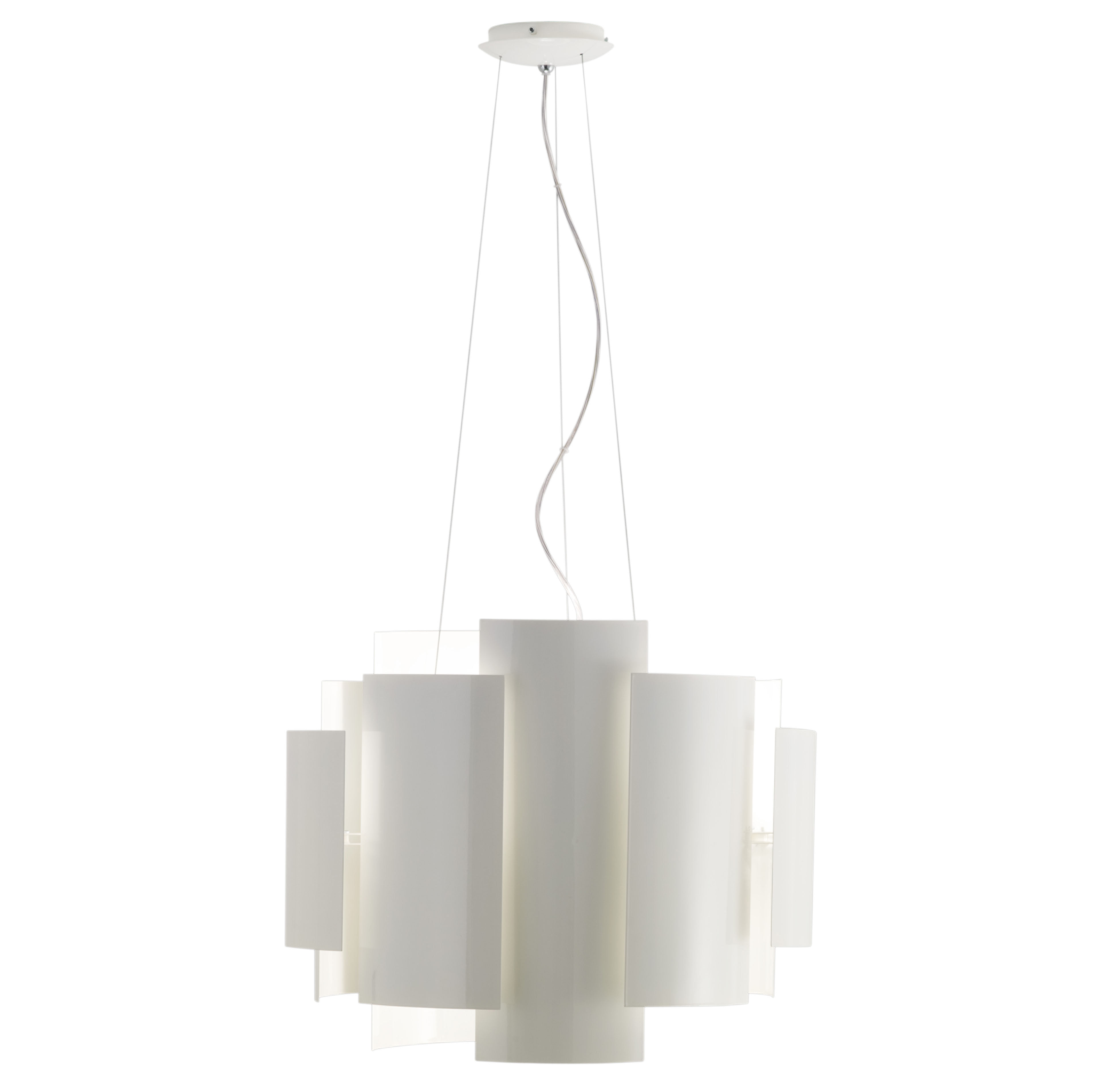 Luminaire - Suspension Skyline Ø 50 cm - Lumen Center Italia - Blanc - Métal laqué