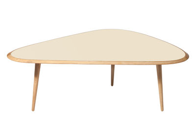 Table basse Large / 130 x 85 cm - Laque - RED Edition chêne naturel,crème laqué en bois